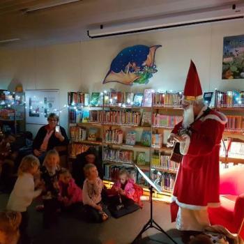 Der Nikolaus war auch 2019 in der Bücherei